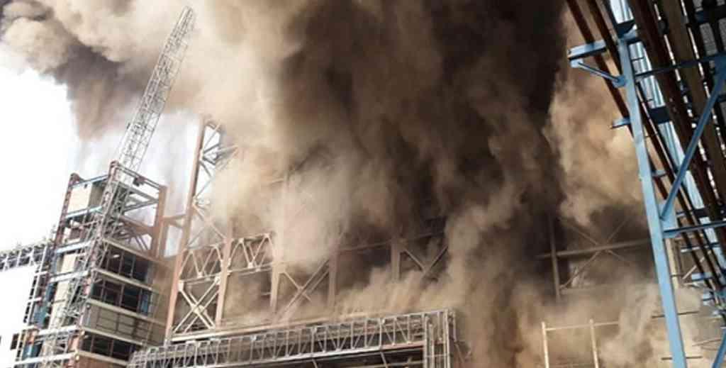 power plant explosion